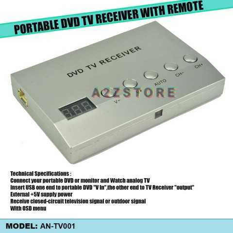 PORTABLE DVD TV RECEIVER WITH REMOTE