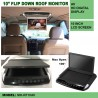 10.1inch Flip down car Roof Mount Color LCD monitor