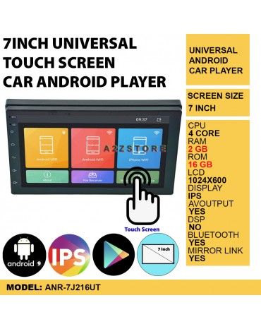 7INCH UNIVERSAL TOUCH SCREEN CAR ANDROID PLAYER