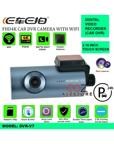 4K FHD DUAL CAMERA CAR DVR WITH WIFI