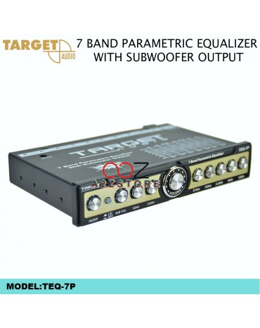 TARGET TEQ-7P 7 BAND PARAMETRIC EQUALIZER WITH SUBWOOFER OUTPUT