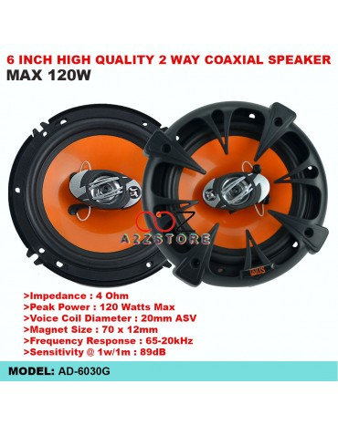 6 INCH HIGH QUALITY 2 WAY COAXIAL SPEAKER AD-6030G