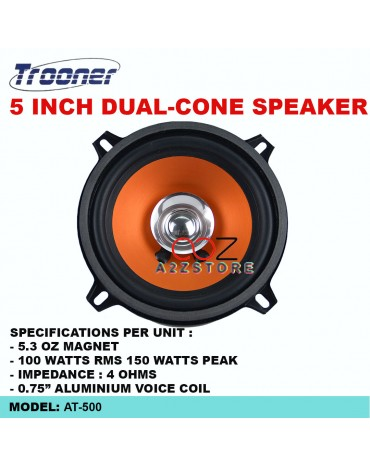 TROONER AT-500 5 INCH DUAL-CONE SPEAKER