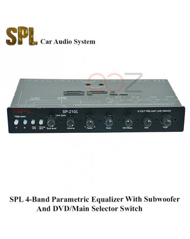 SPL 4-Band Parametric Equalizer With Subwoofer And DVD/Main Selector Switch